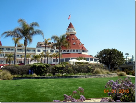 View from the beach in front of Hotel Coronado
