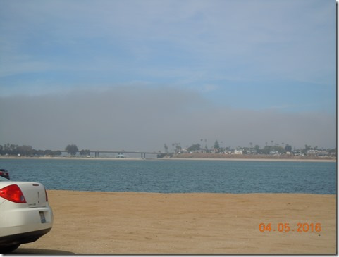 View from Fiesta Island dog park
