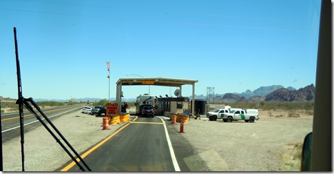 Stopping at immigration checkpoint north of Yuma