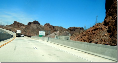 Following the MH, entering Nevada at Hoover Dam