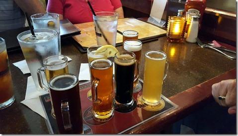 Flight at Riverside Brewery