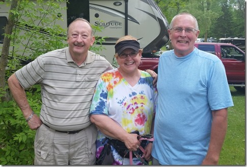 Bob with cousin Jacque and husband Paul Brotherton