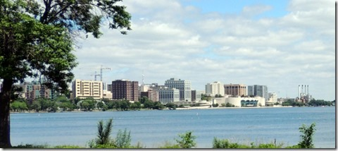 Lake Monona, Monona Terrace and downtown Madison
