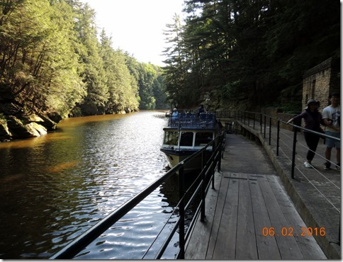 Our boat, Wisconsin Dells Boat Tour