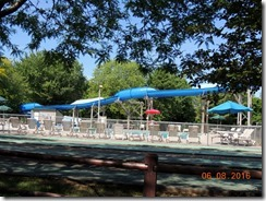 Jellystone RV Park pool with the slide for the kids, WI