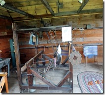 Weaving Loom, used for demonstrations, Farm Museum, Viking Tour, Washington Island, WI