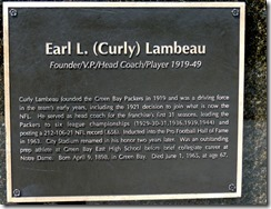 Vince Lombardi, Lambough Field, Green Bay, WI