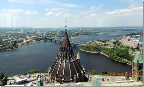 View from Peace Tower, Parliement building, Ottawa