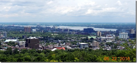 View from overlook,  Grayline Tour Montreal