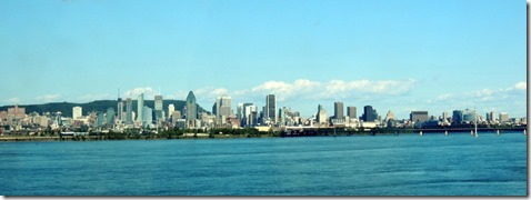 View of Montreal from bridge.