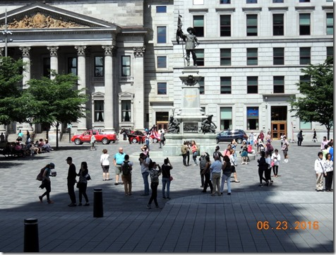 Square in front of Basillica of Notre Dame, Montreal