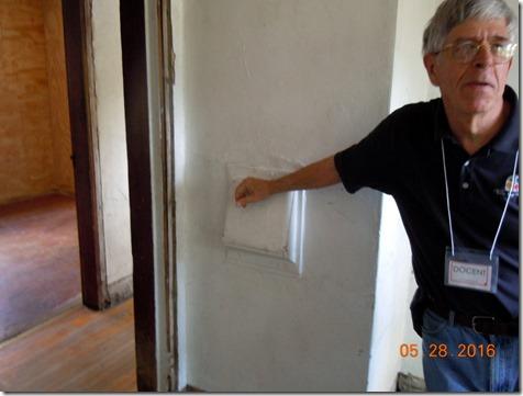 Trashs chute,Frank Lloyd Wright house tour Milwaukee
