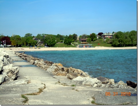 The beach in Sheboygan
