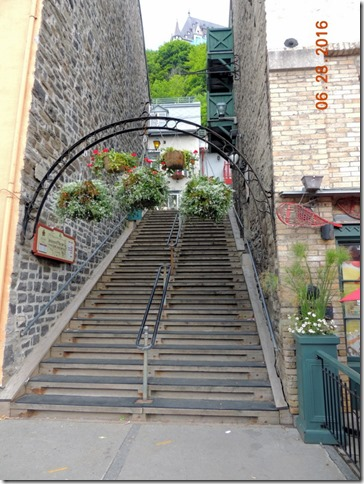 Steps up to the next street, Old Town Quebec City