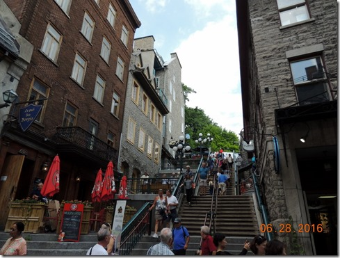 More steps, Old Town Quebec City