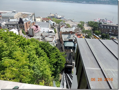 Looking down on the lower Old Town Quebec City
