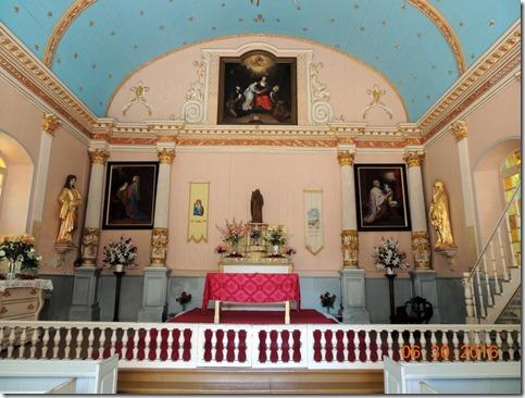 Inside the small chapel Sainte-Anne-de-Beaupre