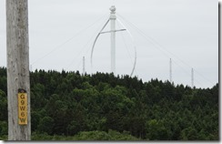 Worlds largest windmill Trip between Sainte Flavie and Sainte-Maxime-du-Mont-Louis