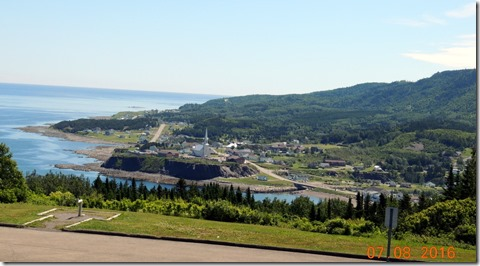 From rest area, overlooking Grande Valle, QC,Trip between Sainte Flavie and Sainte-Maxime-du-Mont-Louis