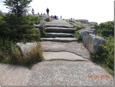 Steps on Cadallac Mountain, Acadia NP Maine