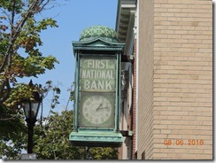 Batr Harbor Bank Clock, stained glass