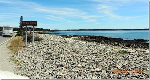 Natural sea wall on Hwy 102, Acadia NP