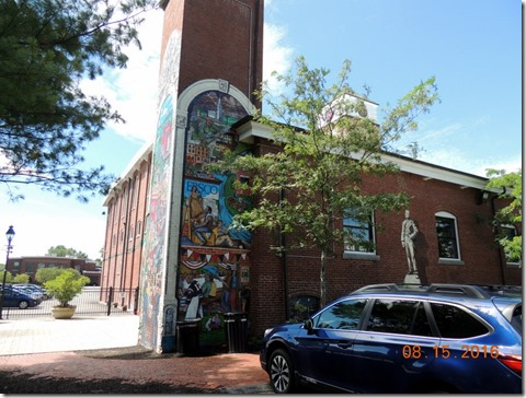 Mural on the EBSCO building in Ipswich MA