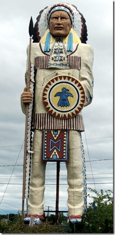 Big Indian Statue, South Freeport ME