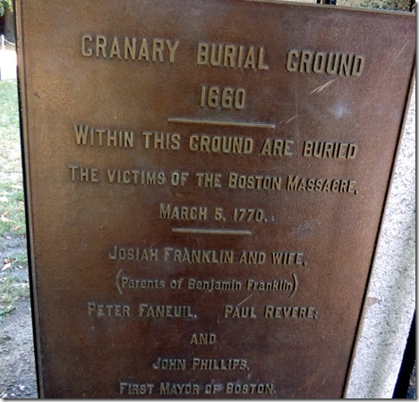 Old Granary Burial Grounds, Boston, Freedom Trail