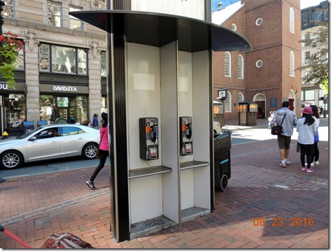 Pay phones on route, Freedom Trail, Boston