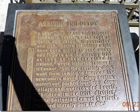 Irish Memorial, Freedom Trail, Boston