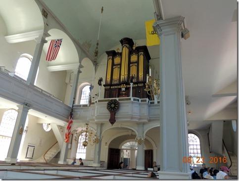 Organ, Old North Church, Freedom Trail. Boston