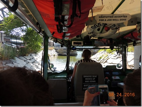 Going into the Charles River, Duck Tour, Boston