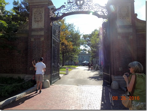 Johnson's Gate to Harvard campus