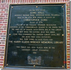 About the library at Harvard