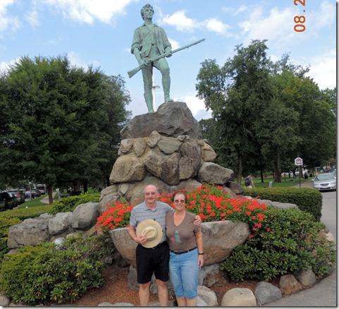 Lexington, in front of Minuteman statue