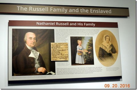 Nathanial Russell, and his 2 daughters Nathanial Russel House, Charleston SC