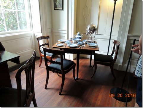 Family dining room, Nathanial Russel House, Charleston SC