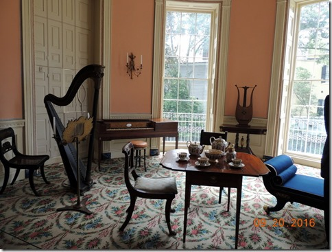 Music room, Nathanial Russel House, Charleston SC