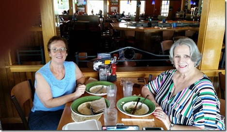 Sandra and Denise at Applebees