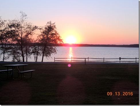 Sunset over Kerr Lake, NC