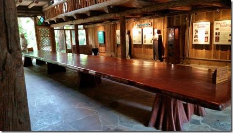 Mahogany table, McKee Botanical Gardens