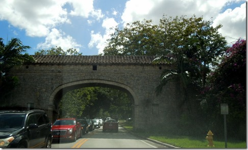 Entrance to Coral Gables, Miami FL
