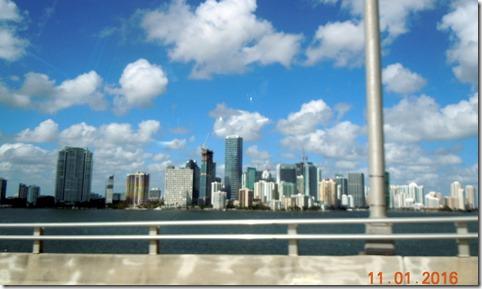 Miami skyline from Rickenbacker causeway