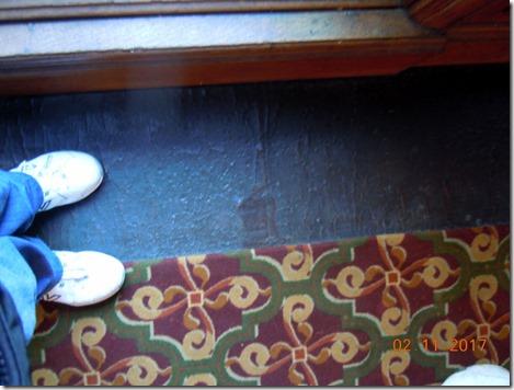 Leather floor in the hallway
