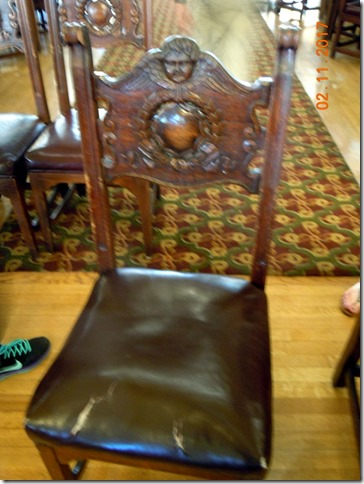 Original chair, Flager College, St. Augustine