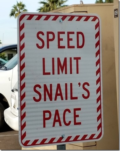 New speed sign at Paradise