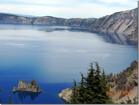 Phantom Ship is a small island in Crater Lake in the U.S. state of Oregon. It is a natural rock formation pillar which derives its name from its resemblance to a ghost ship, especially in foggy and low-light conditions.