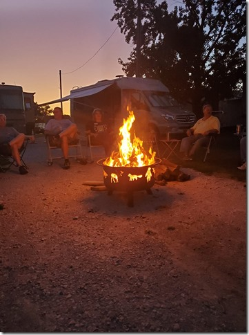 Sat campfire