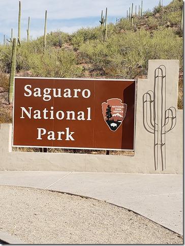 Saquaro NP sign